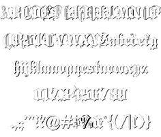 Image for Blackletter font