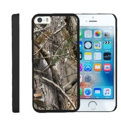 Apple iPhone SE Case SNAP SHELL Protector with Non Slip - Tree Bark Hunter Camouflage