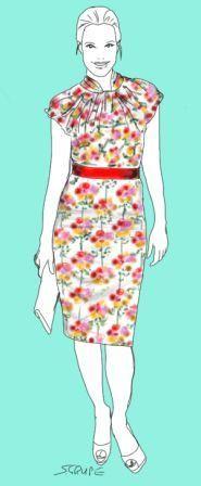 """Neu im Blog: So trägt die Frau mit X-Figur die aktuellen Blumenprints. Tipp: Mit schlichten Schnitten vermeiden Sie den weiblichen """"Overkill""""!"""