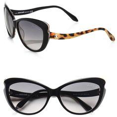 9a90e31b890b Roberto Cavalli Mururoa Cat s-Eye Drop Temple Sunglasses ( 390) ❤ liked on  Polyvore