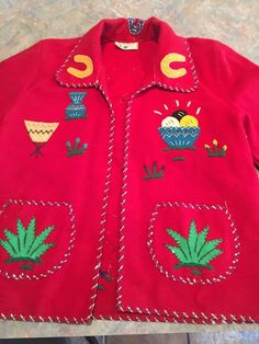 in Clothing, Shoes & Accessories, Vintage, Women's Vintage Clothing*************************I had one of these when I was a child.  It was not red, but turquoise, and I dearly loved it.  The back is the next pin over...