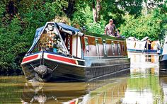 Canal boat in UK.
