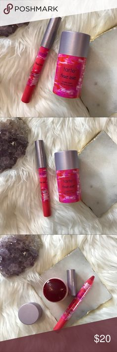 """Tarte True Love Lip & Cheek Stain Set of 2 • Tarte • brand new • given to me as a gift but not my color • shade is """"true love"""" • bundle to save 💰 + accepting reasonable offers • happy shopping! tarte Makeup Blush"""