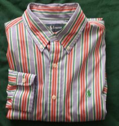 #POLO Ralph Lauren men size S stripped multi color casual dress shirt NWT Classic RalphLauren visit our ebay store at  http://stores.ebay.com/esquirestore