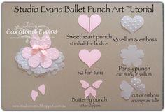 Carolina Evans - Stampin' Up! Demonstrator, Melbourne Australia: Ballet Punch Art Card - Create Challenge #punchitup
