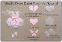 Carolina Evans - Stampin' Up! Demonstrator, Melbourne Australia: Ballet Punch Art Card - Create Challenge #punchitup