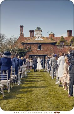Outdoor Wedding Ceremony Woodhall Manor Suffolk