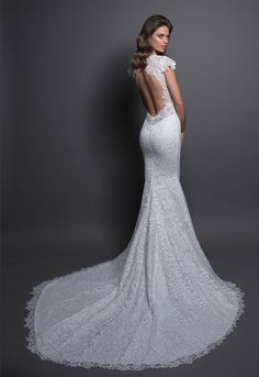 3d303515db Modern Sheath Wedding Dress by Love by Pnina Tornai - Image 1 zoomed in
