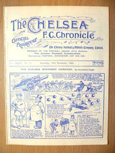 1930 Chelsea V Arsenal, molto raro in Sports Memorabilia, Football Programmes, League Fixtures   eBay
