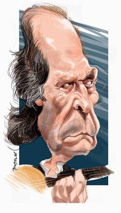 El gran maestro Paco de Lucía, caricaturizado por el artista Jaime Pandelet.     Paco de Lucia por ...