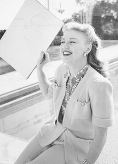 Ginger Rogers and her sketch of Lew Ayres