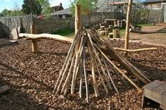 Image result for natural play Copper Beech, Kids Play Area, Forest School, Hereford, Creative Play, Den Building, Building Materials, Kids Playing, Garden Design