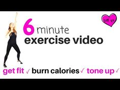 EXERCISE VIDEO - 6 MINUTE HOME CARDIO WORKOUT - BURN CALORIES AND GET FIT - NO  EQUIPMENT NEEDED - YouTube