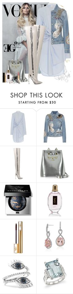 """Mirror mirror on the Wall, who's the fiercest cat of them all?"" by eleonoragocevska ❤ liked on Polyvore featuring Acler, Alexander McQueen, Balenciaga, Charlotte Olympia, Bobbi Brown Cosmetics, Yves Saint Laurent, Chanel, Blue Nile, Delfina Delettrez and Bloomingdale's"