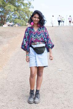 The Street Style at Splendour In The Grass Was Peak Festival Dressing via…