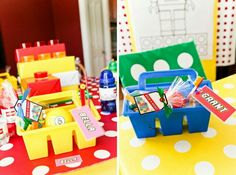 Lego table decoration / storage