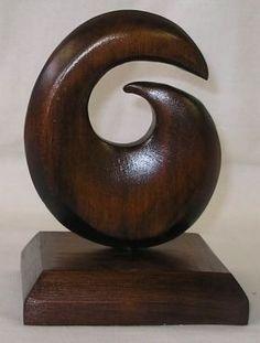 Koru native wood sculpture (love this design)