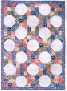 Summer Cottage Baby Quilt Kit Snowball Block Pink Blue Easy Piece | auntiechrisquiltfabric - Quilts on ArtFire