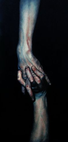 by zitronenradio, oil on canvas - fascinating, how a simple twist of palette can make an image do haunting