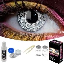 Glimmer Silver Contact Lens Set