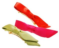 Check out the L. Erickson USA Bermuda Bow Rectangle Barrette - Solid Silk Charmeuse at France Luxe