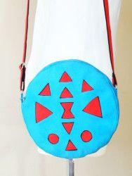 Okragla torebka z azteckim wzorem - wykroj krawiecki i instrukcja jak uszyc torebkę