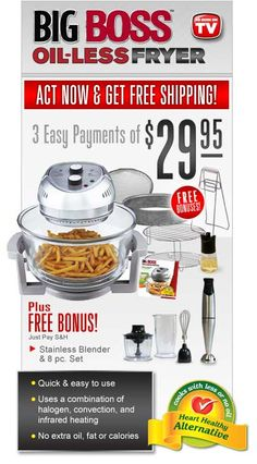 Big Boss™ Oil-Less Fryer--has anybody bought this and used it?  Looks great
