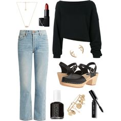 Looking Minimal Sharp by andreabrittingham on Polyvore featuring Bliss and Mischief, Swedish Hasbeens, Kendra Scott, Forever 21, Bobbi Brown Cosmetics, NARS Cosmetics and Essie