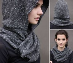 unusual hood pattern hats second street - PIPicStats Sewing Clothes, Diy Clothes, Knitting Patterns, Sewing Patterns, Hood Pattern, Hooded Scarf, Looks Chic, Schneider, Mode Inspiration