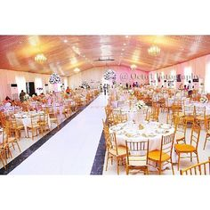 Simple yet beautiful. We love how this event centre was transformed. Photo by @octo4fotography #Wedding #IDoNigeria
