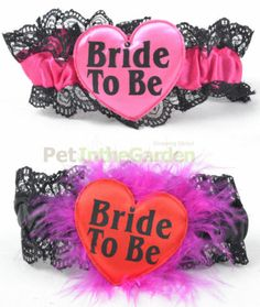 Bride To Be Garter Heart-Shaped with Black Lace Hen Night Party Accessories