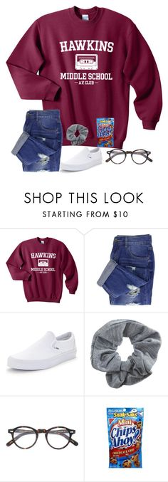 """""""i love my record player!!!"""" by kellycarrick ❤ liked on Polyvore featuring Vans, Topshop and Moscot"""