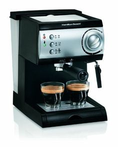 online shopping for Hamilton Beach Espresso Maker powerful Italian pump from top store. See new offer for Hamilton Beach Espresso Maker powerful Italian pump Latte Maker, Cappuccino Maker, Espresso Maker, Coffee Maker, Espresso Parts, Caramel Cappuccino, Cup Maker, Espresso At Home, Best Espresso