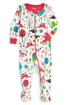 92d4f0af4c Hatley  Mystical Forest  Fitted One-Piece Pajamas (Baby Girls) Girls  Sleepwear