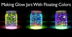 "Glow jars are a fun project to add some drama and romance to outdoor events. They can be used in a multitude of ways as with solar lights. They are easy and fun to make. The ""twist"" on this project is the addition of glitter or a piece of tulle which can make some of …"
