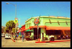 Fred 62 diner in Los Feliz. Hangover central for us.