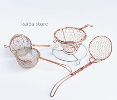 現貨 日本京都 手工編織黃銅茶漏 金網茶濾 咖啡濾杯網架 漏勺-淘宝网全球站