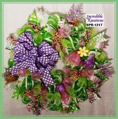 Spring and Summer are Coming Wreath; Spring Wreath; Summer Wreath;  Wreath for Front Door or Walls by IncredibleKreations on Etsy