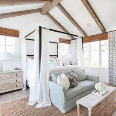 "California Beach House with Coastal Interiors - ""Master Bedroom"" Coastal Master Bedroom, Coastal Bedrooms, Master Bedroom Design, Small Bedrooms, Bedroom Decor, Bedroom Ideas, Master Suite, Bedroom Designs, White Bedroom"