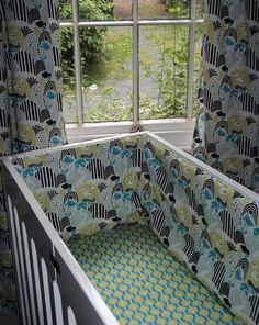 baby cot and cotbed sheets in organic cotton hill farm or lollipop trees print design by TheFunkyNurseryshop on Etsy https://www.etsy.com/uk/listing/176092745/baby-cot-and-cotbed-sheets-in-organic