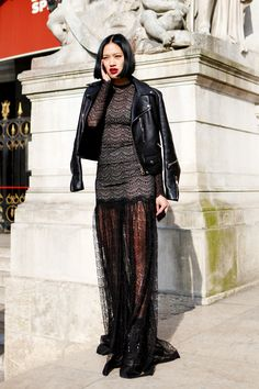 Tiffany Hsu having a major sheer blackout moment in fashionable time, werk.