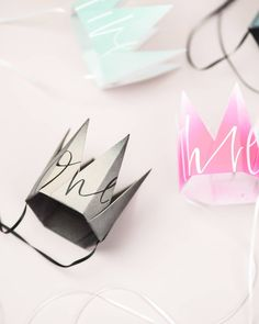 E X C I T E D . to launch these new #graffiticollection PARTY CROWNS next week . of course featuring @cherylrawlings 's dreamy writing as… Next Week, Crowns, Origami, Graffiti, Stationery, Product Launch, Writing, Party, Instagram