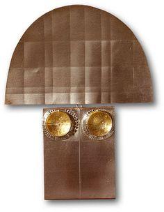 1970  Plata+ lámina de oro +  laca  80x100 mm