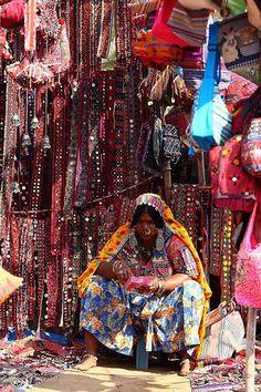 Anjuna Flea Market, Goa Coast, India