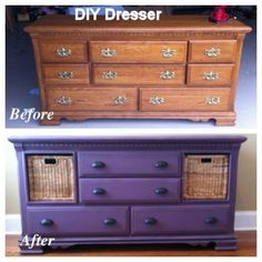 redone furniture recycling | great idea for old dresser! #gingernell | Recycle! Redo! Renew!