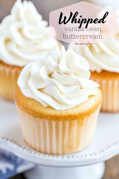 Vanilla Bean Whipped Buttercream Frosting - I Heart Eating