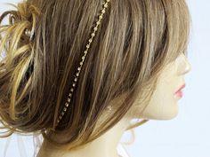Bridal Rhinestone hairband Wedding Headband Bridal by selenayy