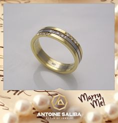 MarryMe Diamond Wedding Ring 18Kt Gold FreeShipping