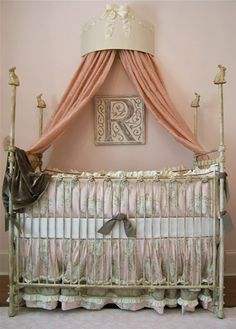 Monogram Plaque shown in distressed ivory by Marie Ricci www.mariericci.com