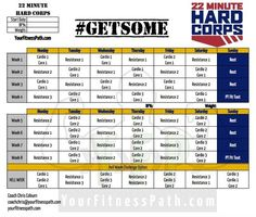 Minute Hard Corps Meal Plan Week    Minute Hard Corps